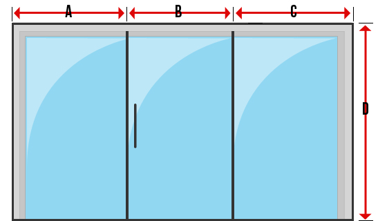 Measuring multiple blinds into one window