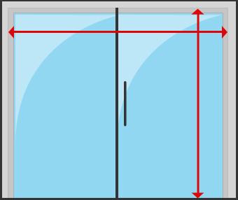 Patio Sliding door inside mount