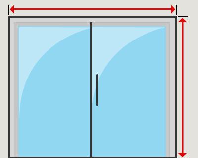 Patio sliding door outside mount